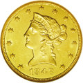 Liberty Eagles: , 1848 $10 MS61 NGC. With a limited original mintage of 145,484pieces, the 1848 is among the more elusive P-mint eagles from...