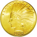 Indian Eagles: , 1920-S $10 MS64 PCGS. Recognized as one of the four most importantrarities in the series of Indian eagles, along with the ...