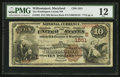 National Bank Notes:Maryland, Williamsport, MD - $10 1882 Brown Back Fr. 482 The WashingtonCounty NB Ch. # (E)1551. ...