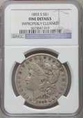 Morgan Dollars, 1893-S $1 -- Improperly Cleaned -- NGC Details. Fine....