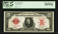 Fr. 123 $10 1923 Legal Tender PCGS Choice About New 55PPQ