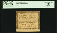 Virginia May 1, 1780 $4 PCGS Apparent Choice About New 58