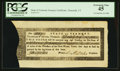 Colonial Notes:Vermont, State of Vermont Treasury Certificate PCGS Extremely Fine 45.. ...