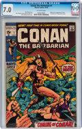 Bronze Age (1970-1979):Adventure, Conan the Barbarian #1 (Marvel, 1970) CGC FN/VF 7.0 Off-white pages....