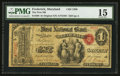National Bank Notes:Maryland, Frederick, MD - $1 Original Fr. 380 The First NB Ch. # 1589. ...