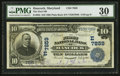 National Bank Notes:Maryland, Hancock, MD - $10 1902 Plain Back Fr. 625 The First NB Ch. #(E)7859. ...