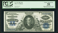 Fr. 321 $20 1891 Silver Certificate PCGS Apparent Choice About New 58