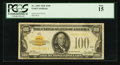 Small Size:Gold Certificates, Fr. 2405 $100 1928 Gold Certificate. PCGS Fine 15.. ...