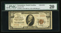 National Bank Notes:North Carolina, Greensboro, NC - $10 1929 Ty. 2 Security NB Ch. # 13761. ...
