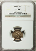 Proof Three Cent Nickels: , 1889 3CN PR65 NGC. NGC Census: (387/283). PCGS Population(394/307). Mintage: 3,436. Numismedia Wsl. Price for problemfree...