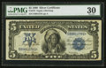 Large Size:Silver Certificates, Fr. 275 $5 1899 Silver Certificate PMG Very Fine 30.. ...