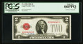 Small Size:Legal Tender Notes, H.T. Tate Courtesy Autograph Fr. 1501 $2 1928 Legal Tender Note. PCGS Gem New 66PPQ.. ...