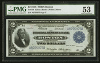 Fr. 749 $2 1918 Federal Reserve Bank Note PMG About Uncirculated 53