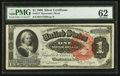 Large Size:Silver Certificates, Fr. 217 $1 1886 Silver Certificate PMG Uncirculated 62.. ...