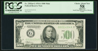 Fr. 2202-G $500 1934A Federal Reserve Note. PCGS Apparent Choice About New 58