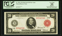 Fr. 953a $20 1914 Red Seal Federal Reserve Note PCGS Apparent Very Fine 35