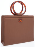 Luxury Accessories:Bags, Chanel Brown Caviar Leather Tote Bag with Tortoise Shell TopHandles. ...