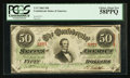 Confederate Notes:1863 Issues, T57 $50 1863 PF-13 Cr. 416.. ...