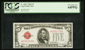 Small Size:Legal Tender Notes, Fr. 1528* $5 1928C Legal Tender Note. PCGS Very Choice New 64PPQ.. ...