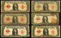 Large Size:Legal Tender Notes, Fr. 40 $1 1923 Legal Tenders Eighteen Examples.. ... (Total: 18 notes)
