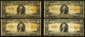 Large Size:Gold Certificates, Fr. 1187 $20 1922 Gold Certificate Seven Examples.. ... (Total: 7notes)