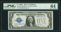 Small Size:Silver Certificates, Fr. 1603 $1 1928C Silver Certificate. PMG Choice Uncirculated 64.. ...