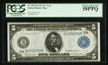 Fr. 850 $5 1914 Federal Reserve Note PCGS Choice About New 58PPQ