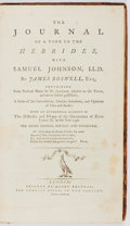 Books:Travels & Voyages, James Boswell. The Journal of a Tour to the Hebrides with Samuel Johnson. London: Henry Baldwin, 1786. Third Edition...