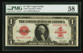Large Size:Legal Tender Notes, Fr. 40 $1 1923 Legal Tender PMG Choice About Unc 58.. ...