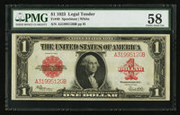 Fr. 40 $1 1923 Legal Tender PMG Choice About Unc 58