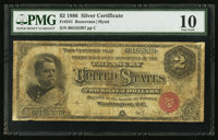Fr. 241 $2 1886 Silver Certificate PMG Very Good 10