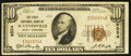 National Bank Notes:North Carolina, Waynesville, NC - $10 1929 Ty. 1 The First NB Ch. # 6554. ...