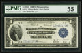 Fr. 717 $1 1918 Federal Reserve Bank Note PMG About Uncirculated 55