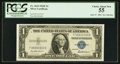Small Size:Silver Certificates, Solid Serial Number T33333333I Fr. 1615 $1 1935F Silver Certificate. PCGS Choice About New 55.. ...