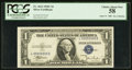 Solid Serial Number L55555555E Fr. 1612 $1 1935C Silver Certificate. PCGS Choice About New 58
