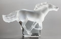 Art Glass:Lalique, A LALIQUE FROSTED GLASS KAZAK HORSE IN ORIGINAL BOX. Post1945. Marks: LALIQUE, FRANCE. 4-3/8 inches high (1...
