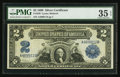 Large Size:Silver Certificates, Fr. 249 $2 1899 Silver Certificate PMG Choice Very Fine 35 EPQ.. ...