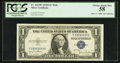 Small Size:Silver Certificates, Solid Serial Number Y33333333E Fr. 1613W $1 1935D Wide Silver Certificate. PCGS Choice About New 58.. ...