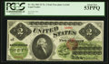 Large Size:Legal Tender Notes, Fr. 41a $2 1862 Legal Tender PCGS About New 53PPQ.. ...