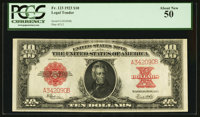 Fr. 123 $10 1923 Legal Tender PCGS About New 50
