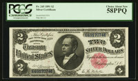 Fr. 245 $2 1891 Silver Certificate PCGS Choice About New 58PPQ