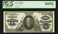 Fr. 321 $20 1891 Silver Certificate PCGS Choice About New 58PPQ