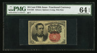 Fr. 1265 10¢ Fifth Issue PMG Choice Uncirculated 64 EPQ