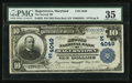 National Bank Notes:Maryland, Hagerstown, MD- $10 1902 Plain Back Fr. 625 The Second NationalBank Ch. # (E)4049. ...