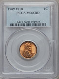 Lincoln Cents: , 1909 VDB 1C MS66 Red PCGS. PCGS Population (2087/225). NGC Census:(1453/107). Mintage: 27,995,000. Numismedia Wsl. Price f...