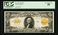 Fr. 1187 $20 1922 Gold Certificate PCGS Extremely Fine 40