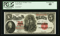 Fr. 91 $5 1907 Legal Tender PCGS Extremely Fine 40