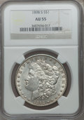 Morgan Dollars: , 1898-S $1 AU55 NGC. NGC Census: (181/2191). PCGS Population(195/3731). Mintage: 4,102,000. Numismedia Wsl. Price for probl...