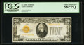 Small Size:Gold Certificates, Fr. 2402 $20 1928 Gold Certificate. PCGS Choice About New 58PPQ.. ...