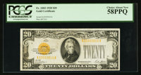 Fr. 2402 $20 1928 Gold Certificate. PCGS Choice About New 58PPQ